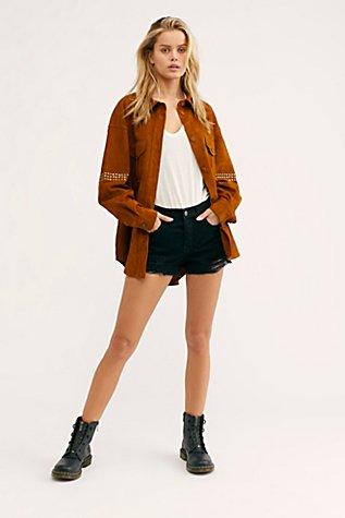 Stud Shirt Jacket | Tuggl