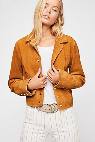 Charlotte Suede Jacket | Tuggl