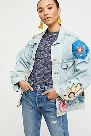 Specialty Floral Denim Jacket | Tuggl