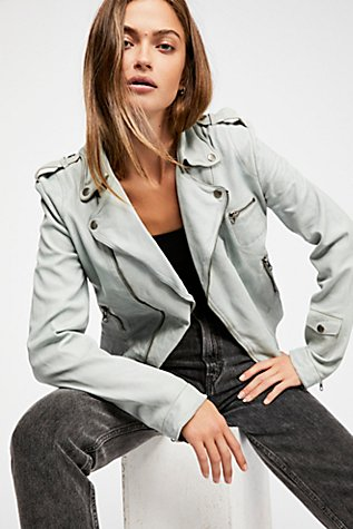 Josey Moto Leather Jacket | Tuggl