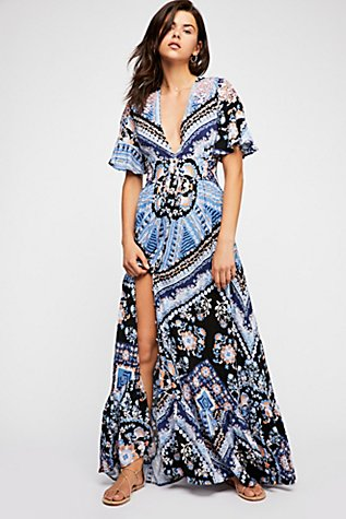 Coco Printed Maxi Dress | Tuggl