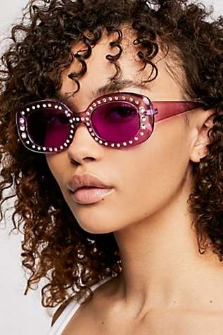 Roxanne Embellished Sunglasses at Free People in Los Angeles, CA | Tuggl