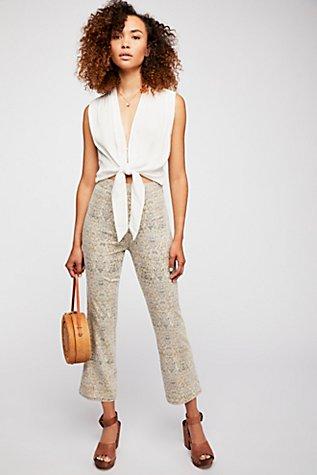 Frida Crop Flare Jeans | Tuggl