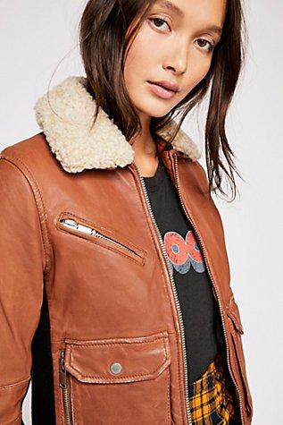 Sherpa Collar Aviator Jacket  | Tuggl