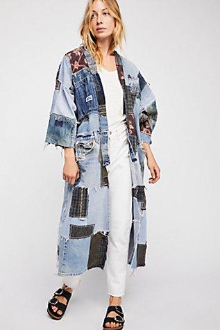 One Of A Kind Denim Kimono  | Tuggl