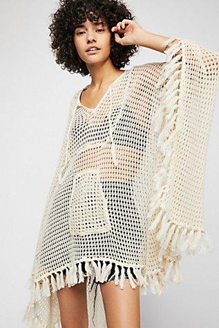 Sand And Sea Crochet Poncho | Tuggl