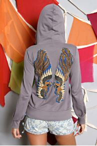 Free People Clothing Boutique > Embellished Bali Hoodie :  handmade hoodies urban unique