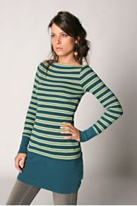 Free People Clothing Boutique > Stripe Boatneck Tunic :  top stripe sweater longsleeve