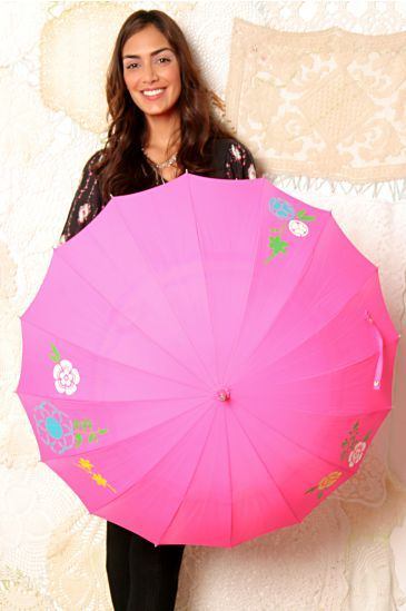 Free People Clothing Boutique > Love Rain On Me Umbrella :  rain wear flower pink rain
