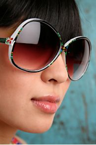Free People Clothing Boutique > Painted Flowers Sunglasses