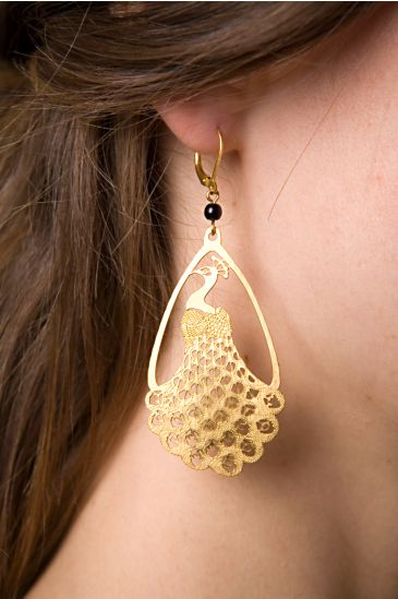 Free People Clothing Boutique > Peacock Earrings :  free people peacock earrings david aubrey