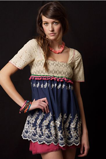 Free People Clothing Boutique > Pattra's Tunic :  floral embroidery eyelet tunic