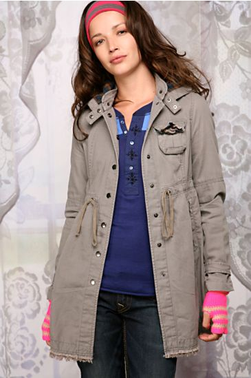 Free People Clothing Boutique > Bunny Max Hood Jacket :  jacket coat deconstruct canvas