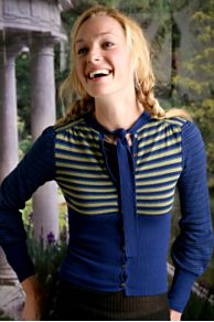 Free People Clothing Boutique > Birdseye Tie Cardigan :  clothing blue cardigan long sleeve