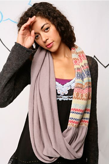 Free People Clothing Boutique > Cashmere Jacquard Mobius Scarf