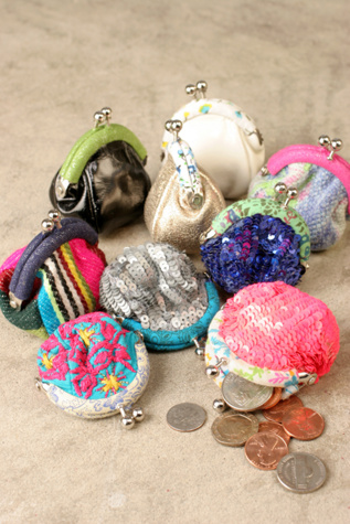 Free People Clothing Boutique > Chubby Change Purse :  floral sequins free people accessories
