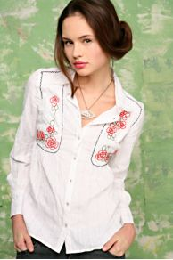 Free People Clothing Boutique > Mixed Matador Embroidered Top :  embroidered top cotton long sleeve