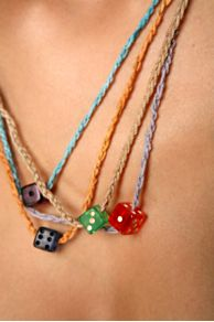 Free People Clothing Boutique > Mini Dice Necklace :  gambling