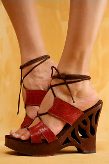 Free People Clothing Boutique > Niorka Lace up Platform :  wedges footwear people free