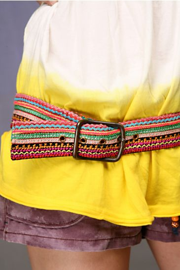 Free People Clothing Boutique > Ric Rac Stitch Belt :  beach gt fun people