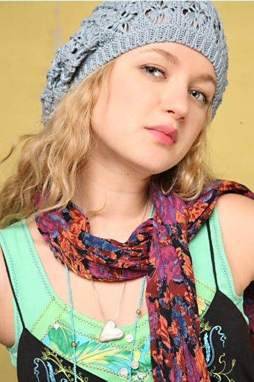 """Siesta Scarf Style# 81A0836  Floral printed, crinkle gauze, scarf with contrast stitching along the edge.  Sizing info: 73"""" L 18"""" W"""