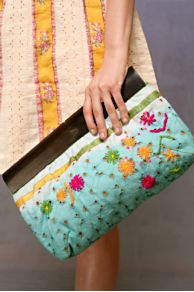 Free People Clothing Boutique > Dip Dye Embroidered Wood Handle Clutch from freepeople.com