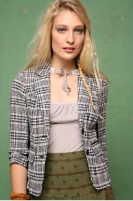 Free People Clothing Boutique > Plaid Tailored Blazer :  blazer free people plaid