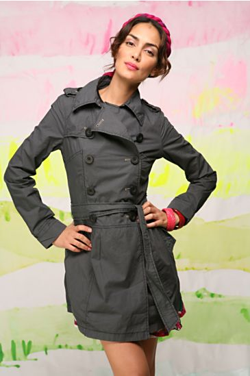 Free People Clothing Boutique > Drop Waist Trench Coat :  jacket outerwear crisp poplin dwaist trench free