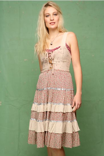 Free People Clothing Boutique > Eyelet Overdye Ditsy Dress :  beautiful women smocking boho