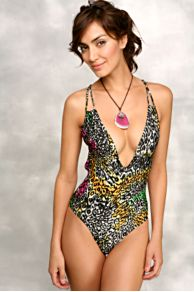 Free People Clothing Boutique > Lucky Star Onepiece :  free people swim bathing suit print