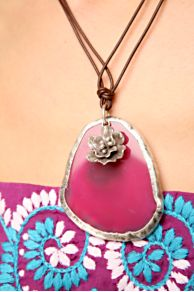Free People Clothing Boutique > Chaac Pendant Necklace :  necklace pink pendant necklace free people