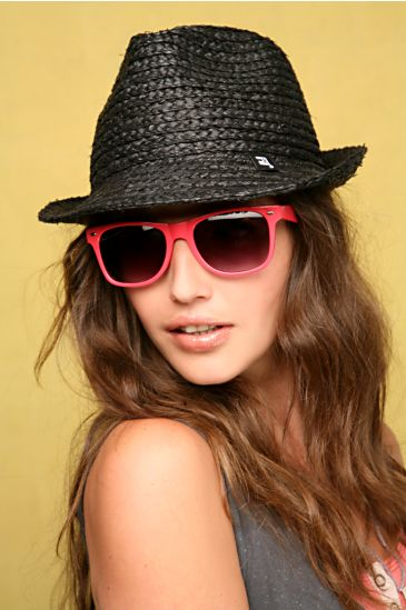 Free People Clothing Boutique > Braided Straw Fedora :  fashion accessory fashion accessories hat straw