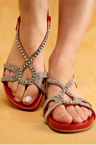 Rhinestone Studded Sandals