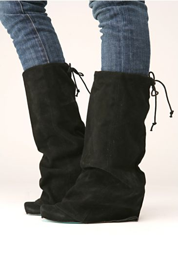 Free People Clothing Boutique > Tall Fold Over Boot :  drawstring free fold over cuff heels