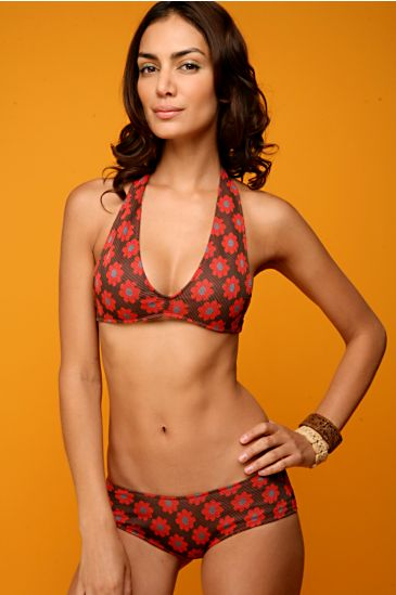 Vintage Red Daisy Boyshort Bikini from freepeople.com
