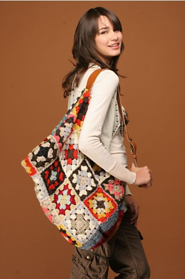 Free People Clothing Boutique Crochet Patchwork Satchel from freepeople.com