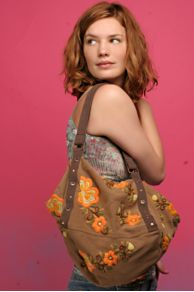 Free People Clothing Boutique > Butterfly Embroidered Square Bag from freepeople.com