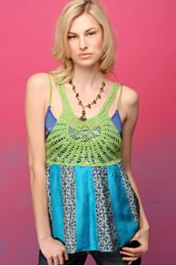 Free People Clothing Boutique > Crochet Sundial Tank from freepeople.com