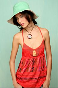 Free People Clothing Boutique > Huipil Racerback Tank :  red boho tank safari style