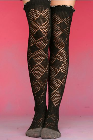 Free People Clothing Boutique > Diamond Pointelle Over The Knee Socks from freepeople.com