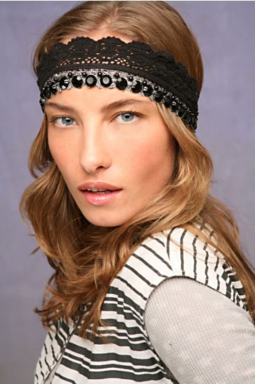 Free People Clothing Boutique > Crochet Tiera Headband :  spring summer elastic people metallic