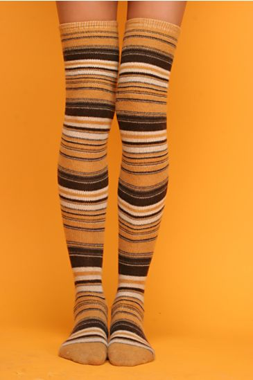 Free People Clothing Boutique > Thick and Thin Over The Knee Socks :  socks thick and thin over the knee socks accessories elastic band