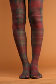 Free People Clothing Boutique Plaid Tights from freepeople.com