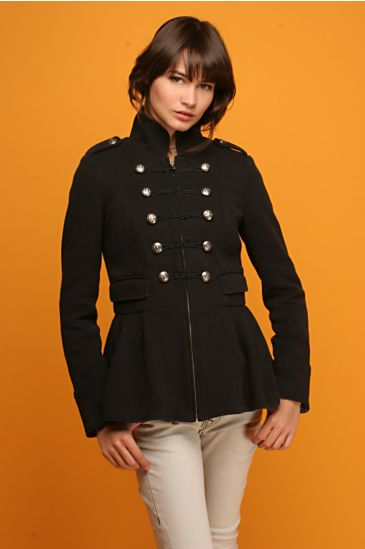 Free People Clothing Boutique > Proper Colonel Coat :  sculptural look glamour artistic stylish
