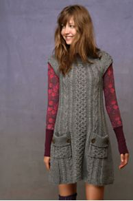 Free People Clothing Boutique > Rows Of Cable Dress :  cable knit fashion clothing sweater