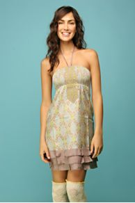Free People Clothing Boutique > Dropwaist Ruffle Bottom Dress from freepeople.com