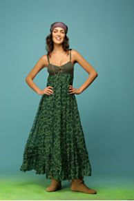 Free People Clothing Boutique > Wild At Heart Chiffon Dress :  long crinkle boho dress free people