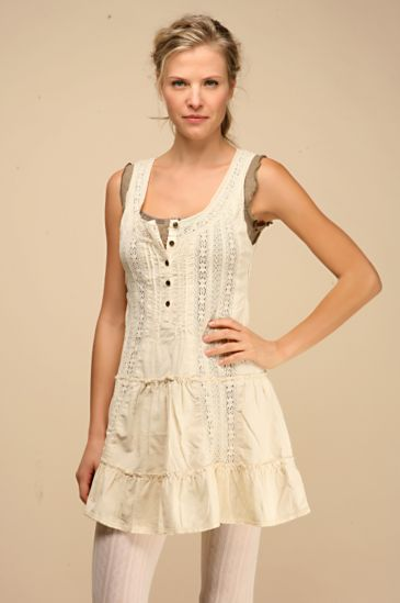 Free People Clothing Boutique > Pintuck Lace & Cord Dress