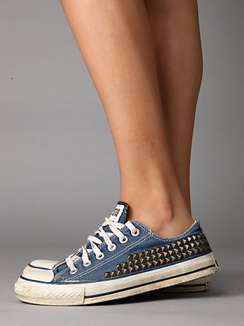 Studded Vintage Converse > Free People Clothing Boutique from freepeople.com