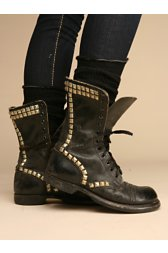 Studded Vintage Combat Boot